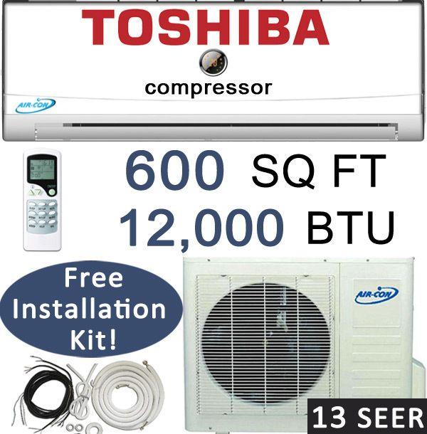 Mini Split Air Conditioner Heat Pump 1 Ton 25 Feet Lineset