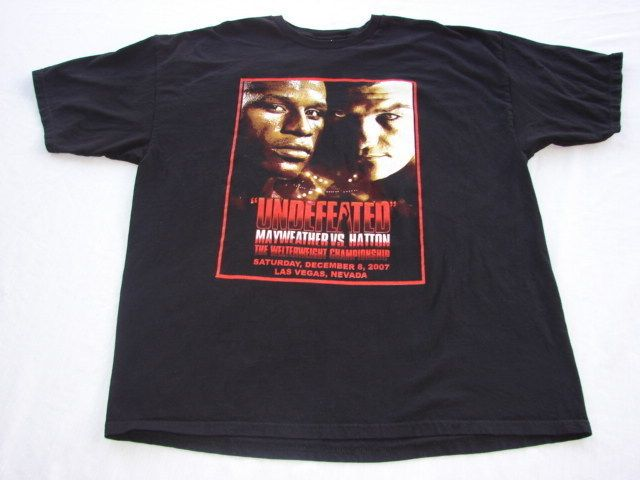Floyd MAYWEATHER vs Ricky Hatton Boxing Event Shirt RARE New Size XXL