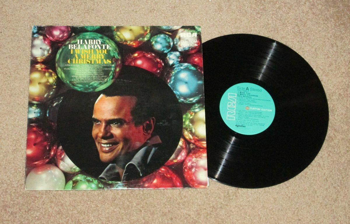 Harry Belafonte I Wish You A Merry Christmas LP Record VG