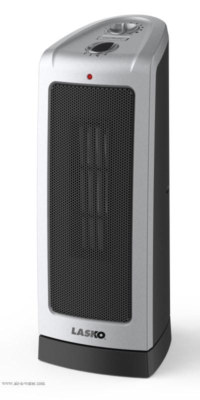 Oscillating Ceramic Tower Space Heater With Adjustable Thermostat
