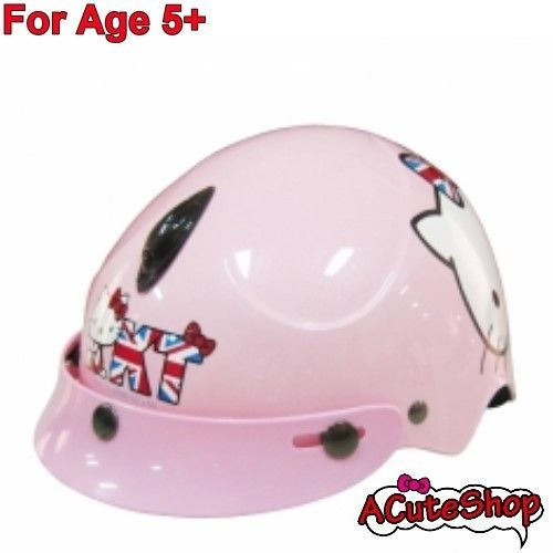 Hello Kitty Kids Motor Bike Helmet Harley Union Jack England Pink