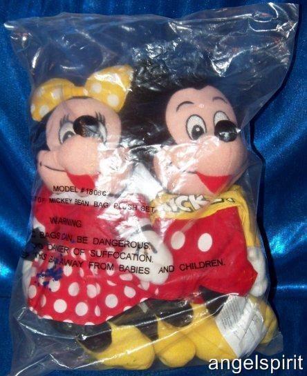 Disney SPIRIT of MICKEY MOUSE & MINNIE 8 stuffed plush beanbag toy
