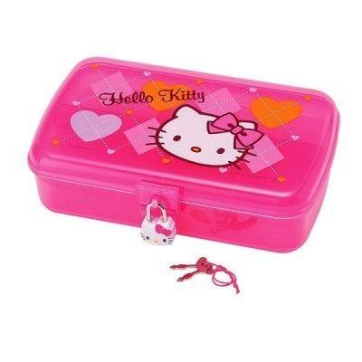 Sanrio Hello Kitty Argyl Jewelry Case with Lock Heart