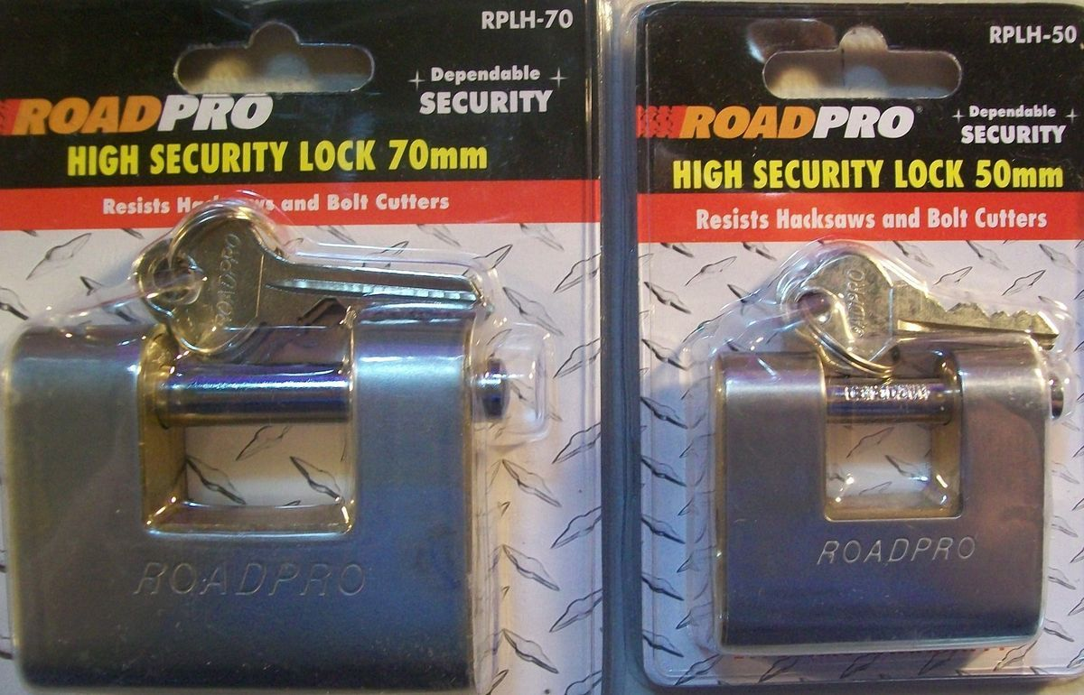 Road Pro High Security Locks 70mm 50mm Dependable Security