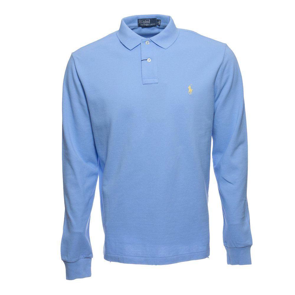 New XL Polo Ralph Lauren Long Sleeve Shirt L s Chatham Blue Rugby RRL