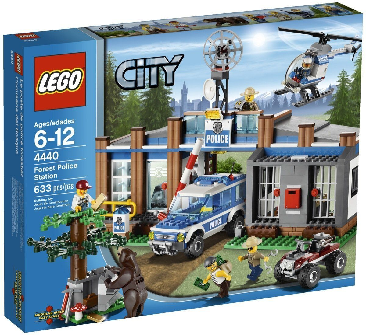 Lego City 4440 Forest Police Station Nib New In Box Headquarters 7744
