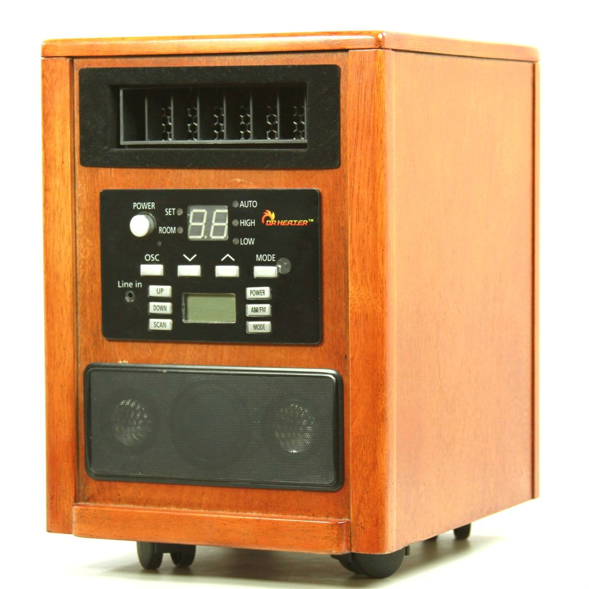 Infrared Oscillation portable Space Quartz Heater w High End Speaker