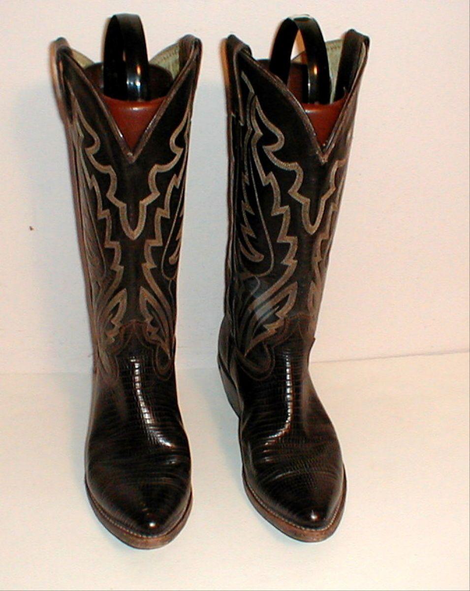 Womens Size 7 D Justin Diamond J Lizzard Western Cowboy Boots