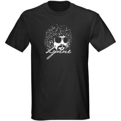 Mens ELO Jeff Lynne 1980s Retro Rock T Shirt Black New