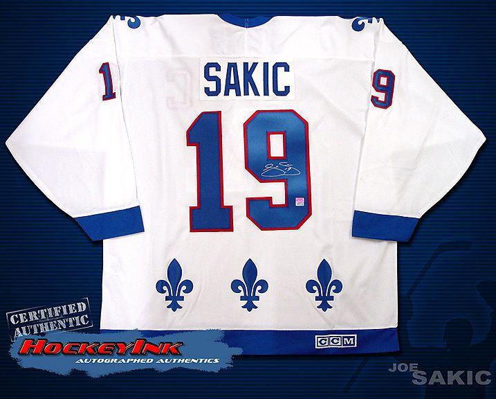 Joe Sakic Quebec Nordiques Signed CCM White Jersey 0a3238bfa