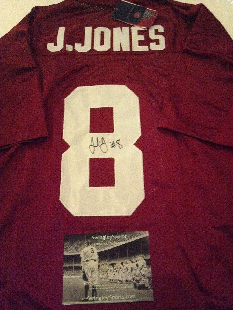 Julio Jones Signed Alabama Crimson Tide Authentic Football Jersey