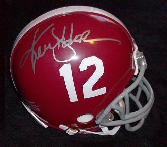 Ken Stabler Signed Alabama Crimson Tide Mini Helmet COA