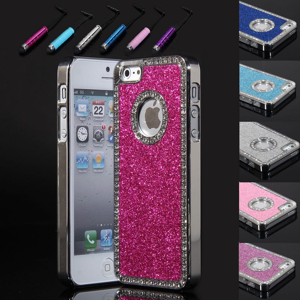 Bling Glitter Chrome Diamond rhinestone Hard Case Cover For iPhone 5
