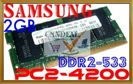 2GB Samsung PC2 4200 DDR2 533 Laptop Netbook Computer Memory RAM Dell