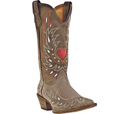 Laredo Womens Western Cowboy Boots Gray Goat Heart Shaft 52117 Size 6
