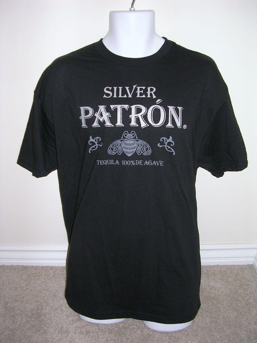New Mens Patron Tequila Black XXL T Shirt Tee Bar Bartender Official