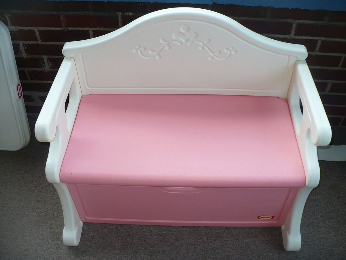 Little Tikes Toy Box Bench Seat Victorian Htf Child Size