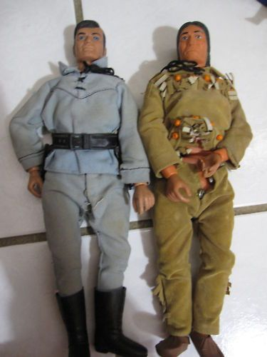 Vintage 1970s 1973 Lone Ranger Action Figures Dolls