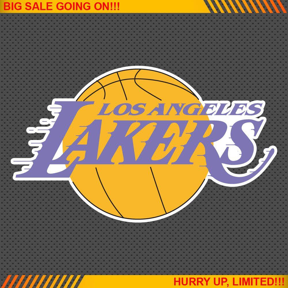 Los Angeles Lakers NBA Basketball Logos Car Bumper Window Wall Sticker