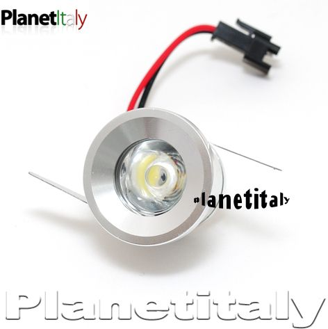 Punto Luce LED Faretto LED Incasso 1 LED 1W Luce Calda 220V LED HP