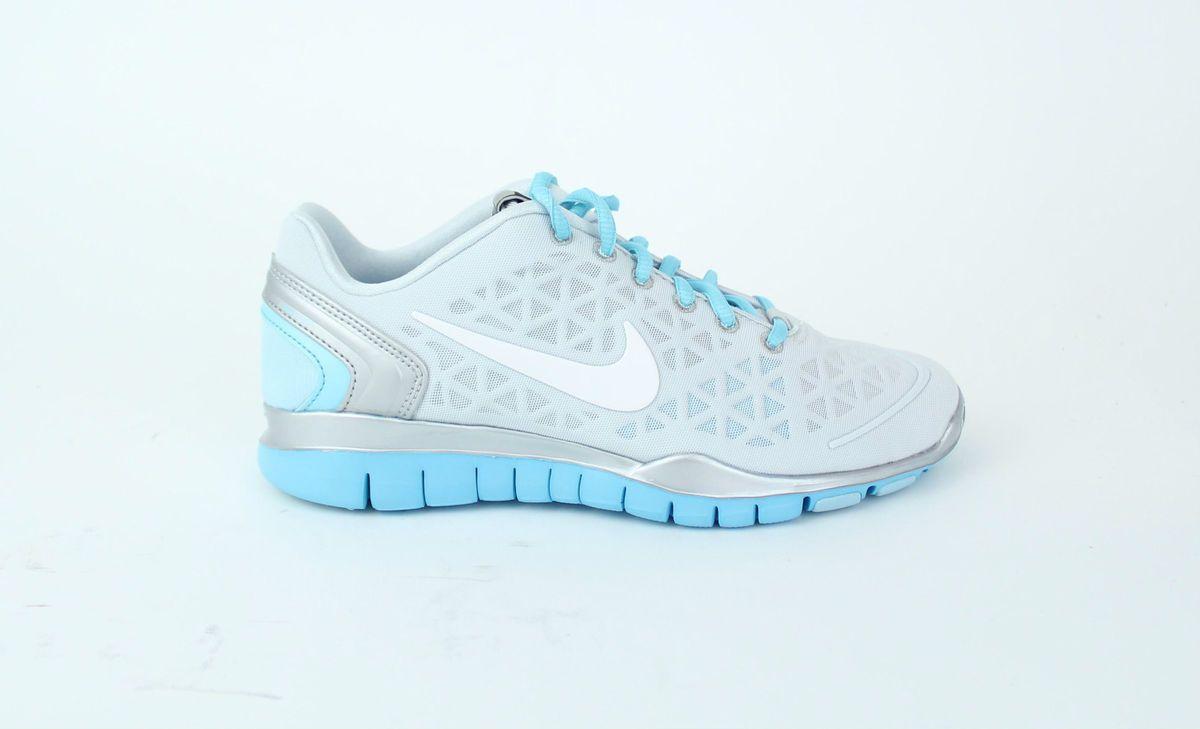 Nike Womens Free Training Fit 2 PR Platinum White Metallic Silver