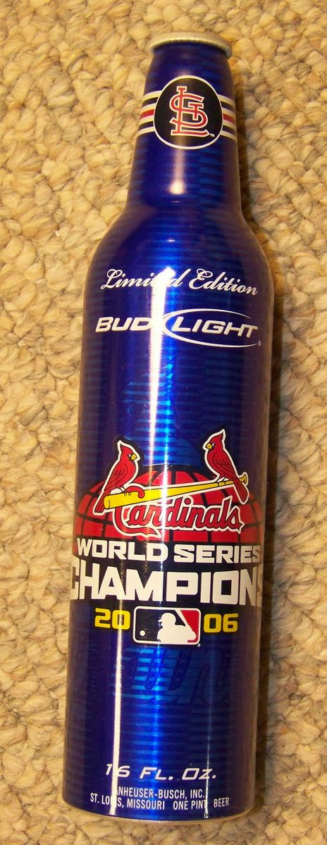 St Louis Cardinals 2006 World Series Champions Aluminum Bottle Bud