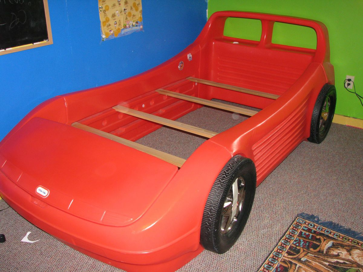 Twin Size Little Tikes Race Car Bed