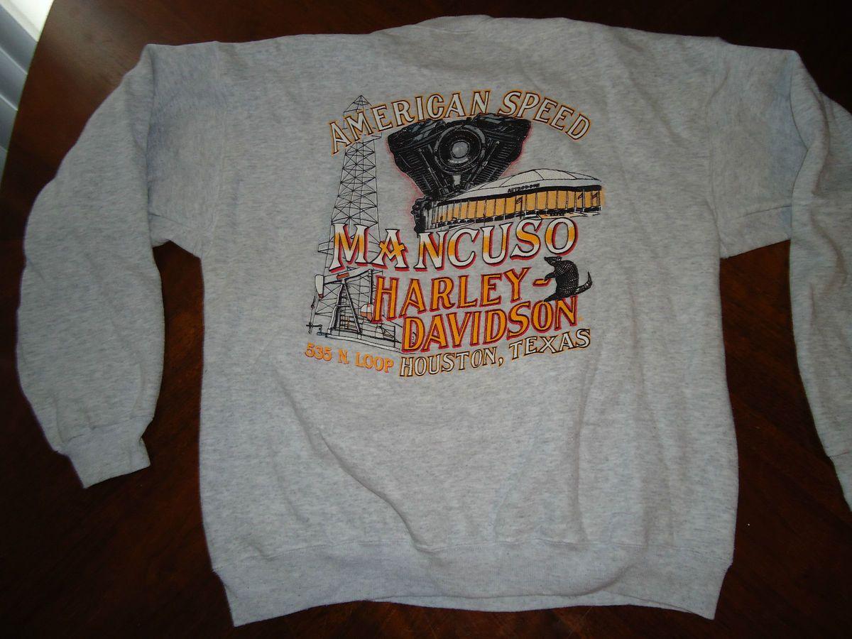 1993 Mancuso Harley Davidson Houston Astrodome Sweatshirt Shirt