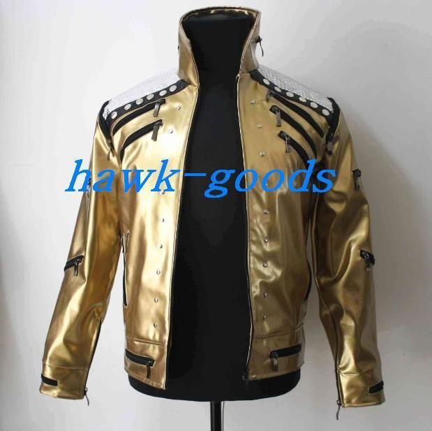 New Michael Jackson Golden Beat It Jacket Professional