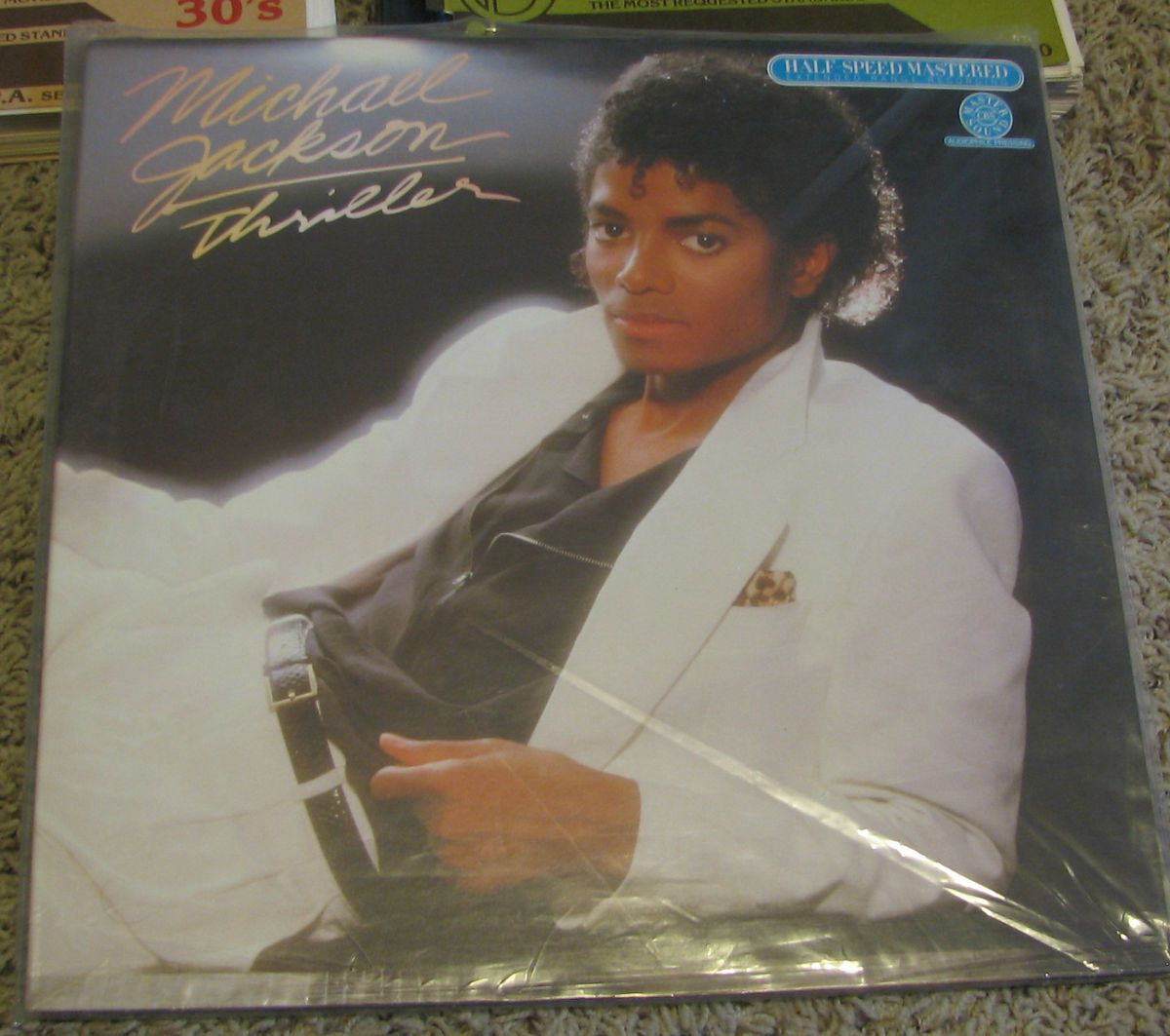 Michael Jackson THRILLER LP album CBS Half Speed Mastered AUDIOPHILE