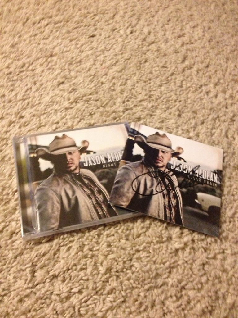 Newly listed Jason Aldean Night Train CD Signed Autographed Insert 100