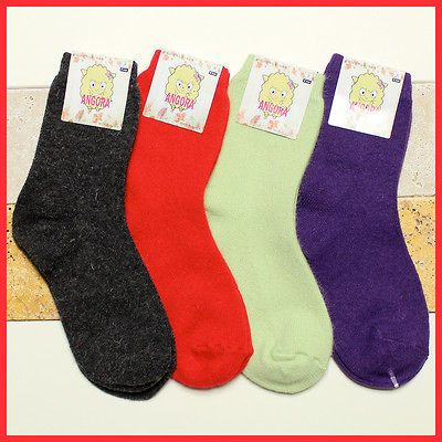 Lot of 4 Pair ANGORA Heat Warm SOCKS HIGH QUALITY Hiking Trail Casual