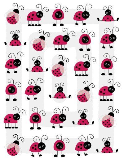LADYBUG BUGS RED PINK BLACK NURSERY BABY GIRL WALL ART DECOR STICKERS