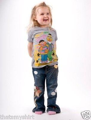 New Junk Food Sesame Street Bert and Ernie Girls T Shirt