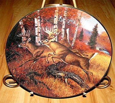 Whitetails AUTUMN ESCAPE Hayden Lambson DANBURY MINT Deer Buck Plate