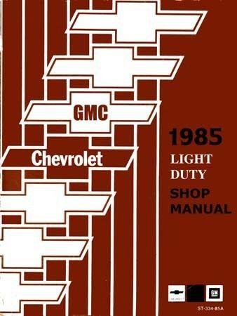 1985 Chevrolet GMC Truck Van Chassis Suburban Shop Service Repair