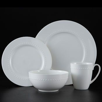 & Bone China Dinnerware Set 32 pc. Bone China Roscher Hobnail