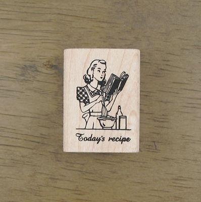 Decorative Stamps Vintage Todays Recipe Rubber Stamp
