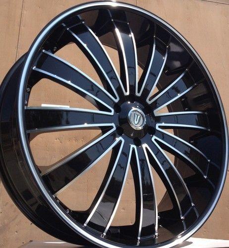 Black Wheels Rims Tires 5x120 Range Rover 2007 2008 2009 2010