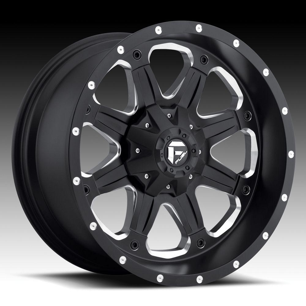 17 Fuel Boost Black Wheels Jeep Wrangler JK 33 Toyo MT Tires