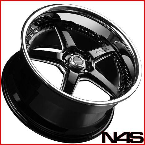 SLK280 SLK300 SLK350 Vertini Drift Black Staggered Wheels Rims