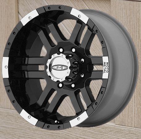 16 inch Black Wheels Rim MOTO METAL 951 FORD F250 F 350 8 lug trucks