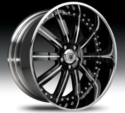 26 asanti AF134 Black Chrome Wheels Rims 3 Piece