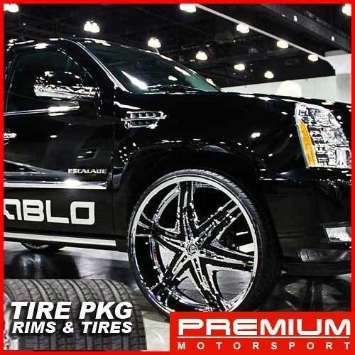 30 inch Rims Wheels Yukon Diablo Elite Rims Wheels Tire Escalade