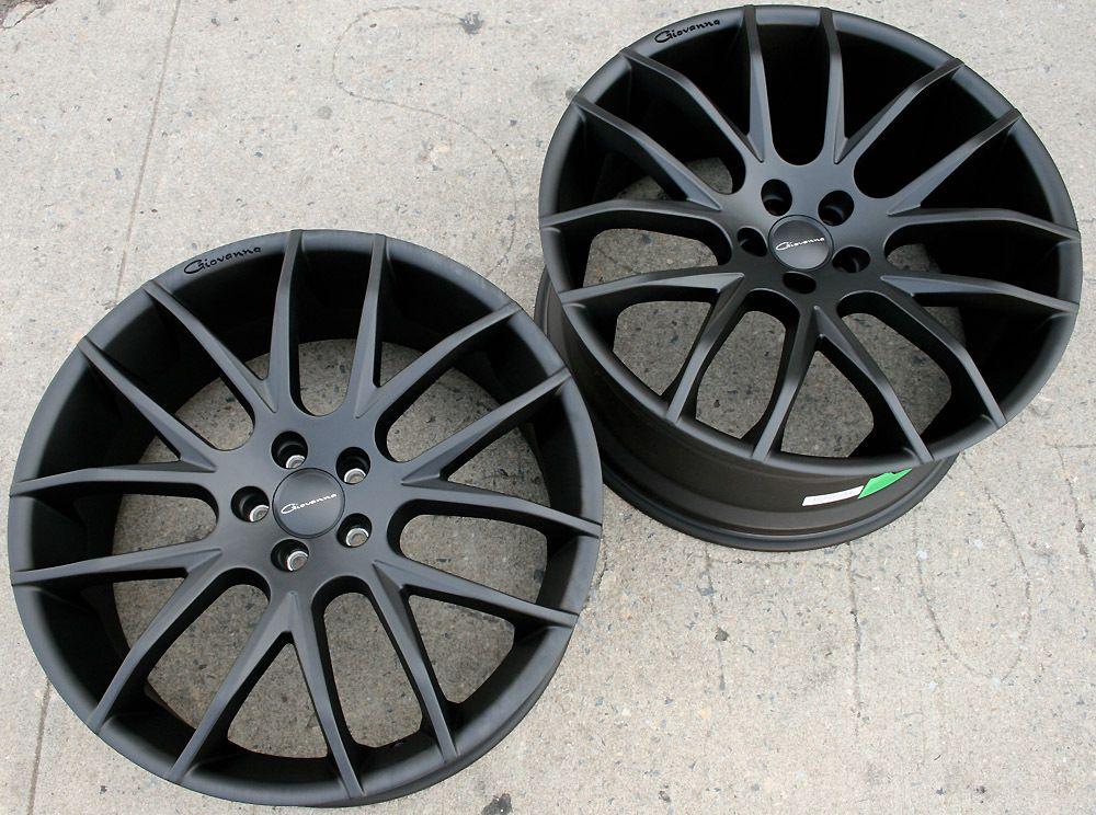 Giovanna Kilis 22 Matte Black Rims Wheels G35 G37 Stag 22 x 9 0 10 5