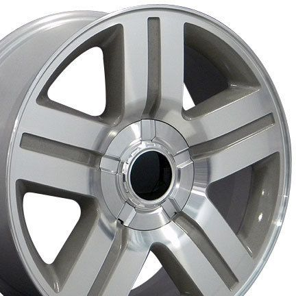 20 Silver Texas Truck Wheels Rims Fit Chevrolet GMC Cadillac Set