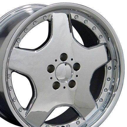 18 8 9 Chrome AMG Wheels Set of 4 Rims Fit Mercedes C E s Class SLK