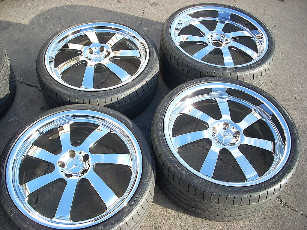 21 Chrome HRE Staggered Wheels Tires Rims Mercedes CL s Class CL550