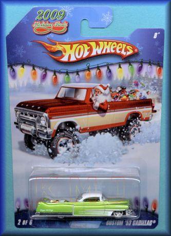 2009 Hot Wheels Holiday Rods Custom 53 Cadillac New