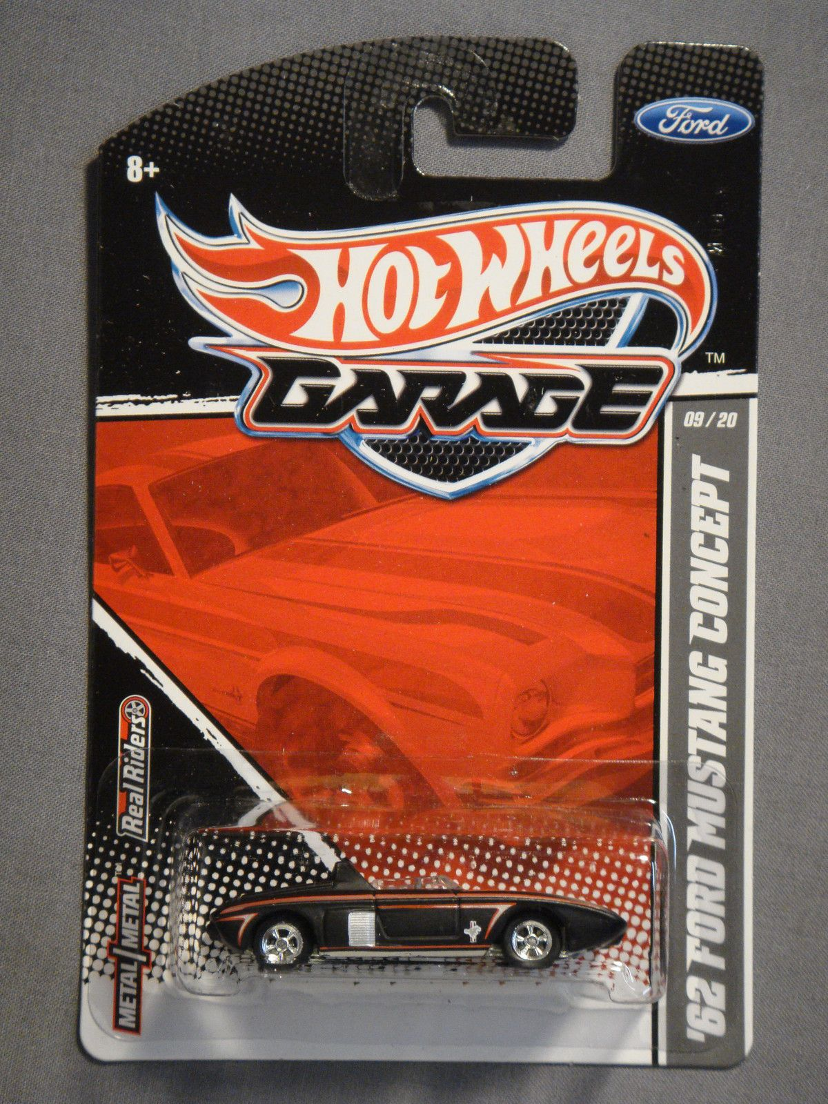 HOT WHEELS GARAGE REAL RIDERS 62 FORD MUSTANG CONCEPT #9 DIECAST CAR